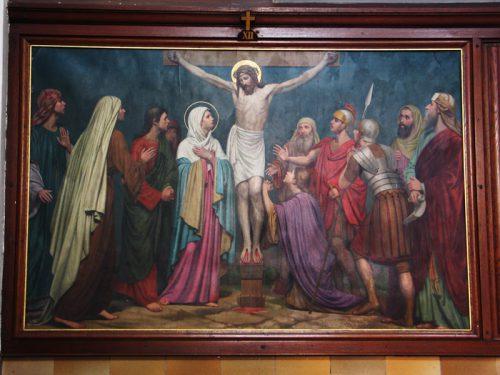 De twaalfde statie: Jezus sterft aan het kruis