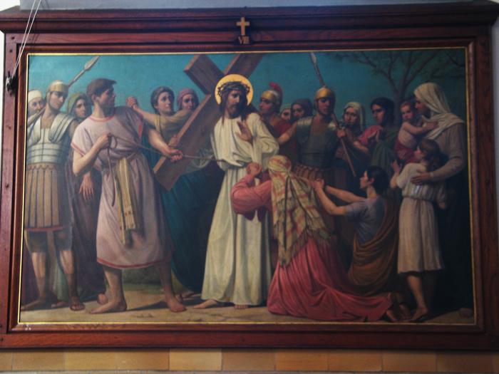 De achtste statie: Jezus troost de wenende vrouwen