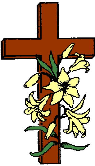 kruis met bloemen kleur